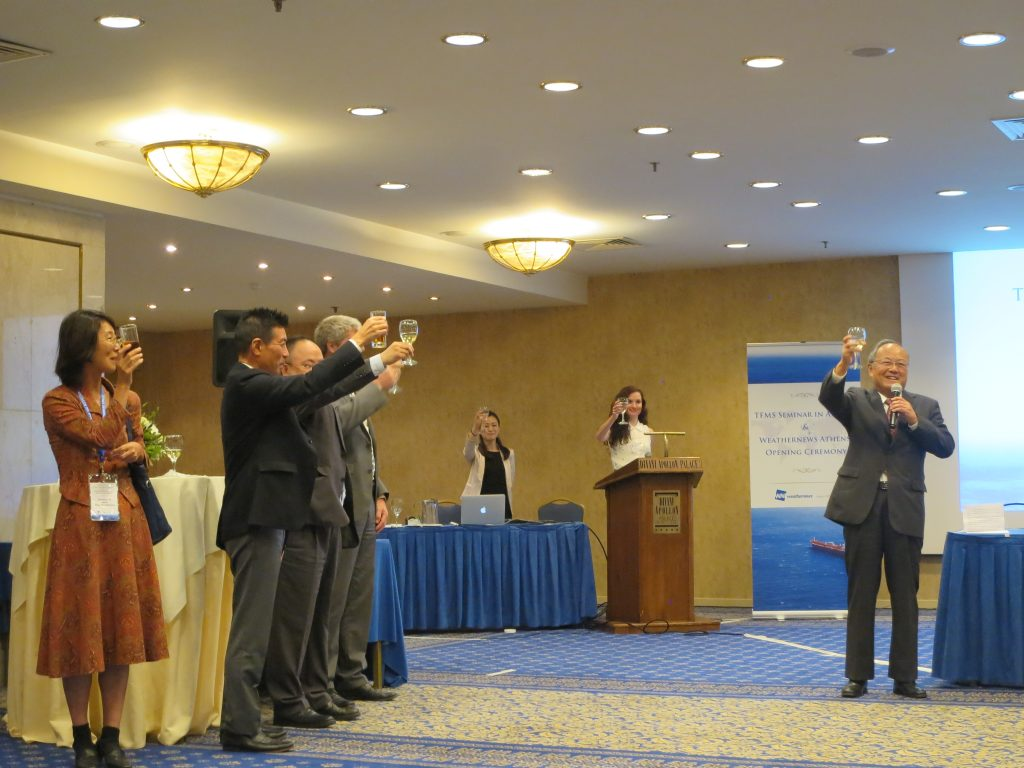 A toast from Ambassador Nishibayashi