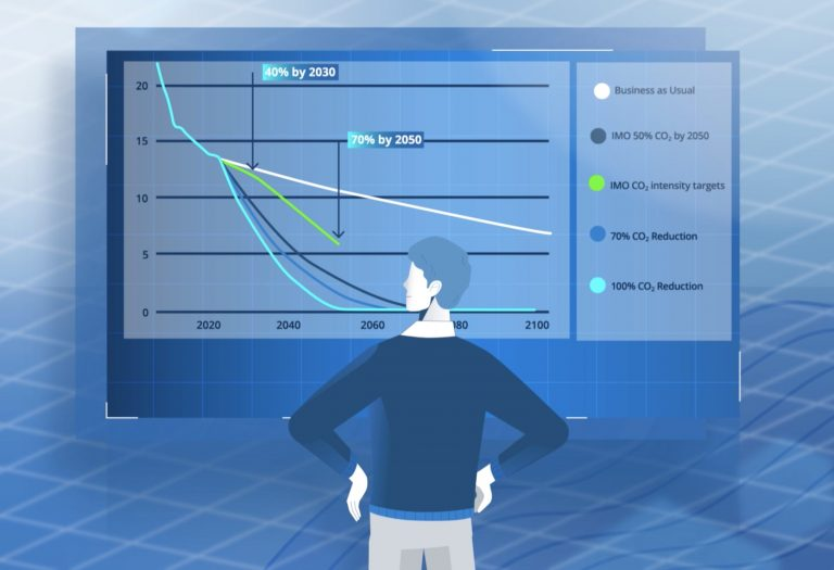 Ship owner overlooking emission savings